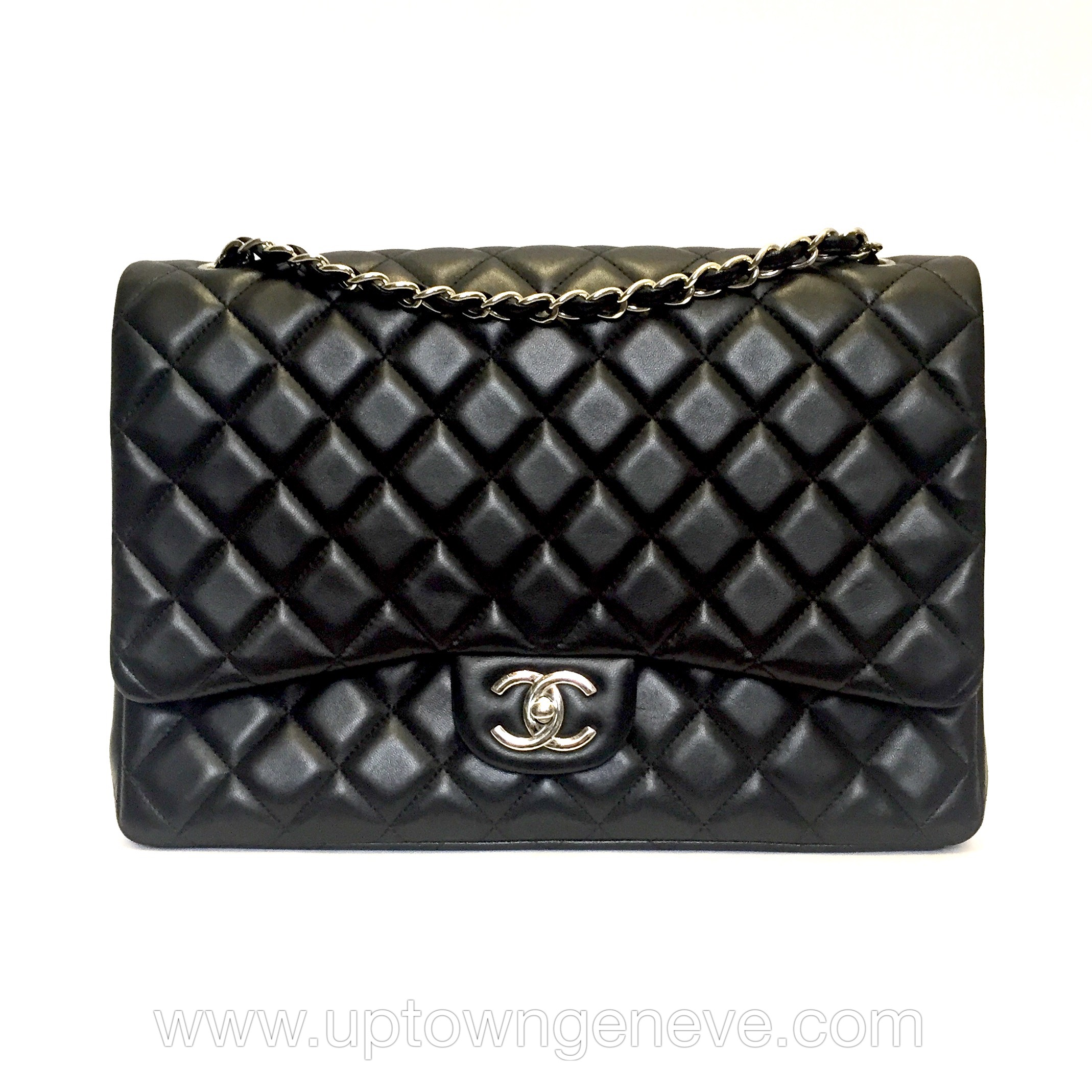 a5a89ccb Chanel Classic Maxi bag in black lambskin