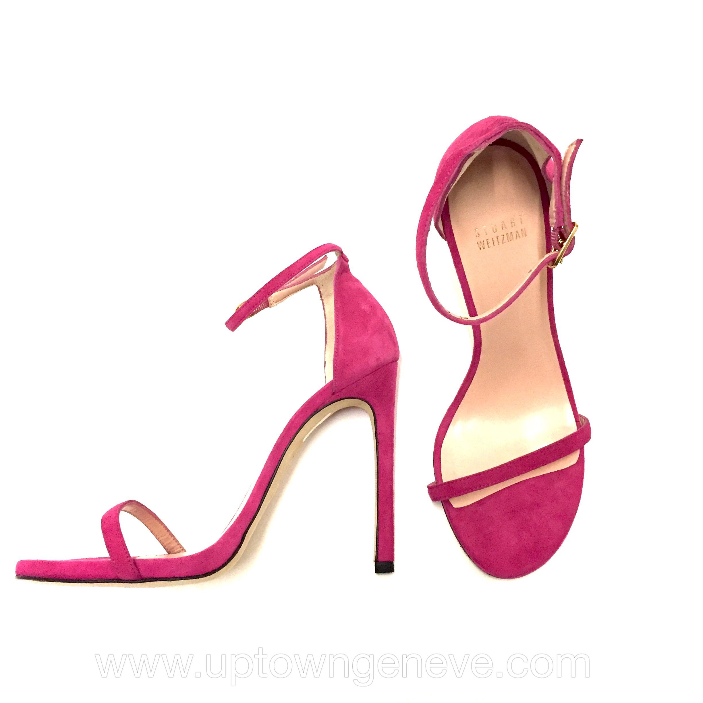Stuart Weitzman fuchsia pink suede