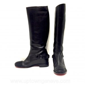 Louboutin Egoutina Spike boots in black leather