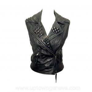 Elisabeth & James vest in black leather