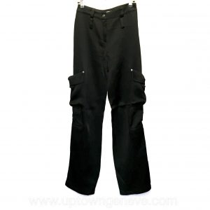 Dior combat pants in black silk